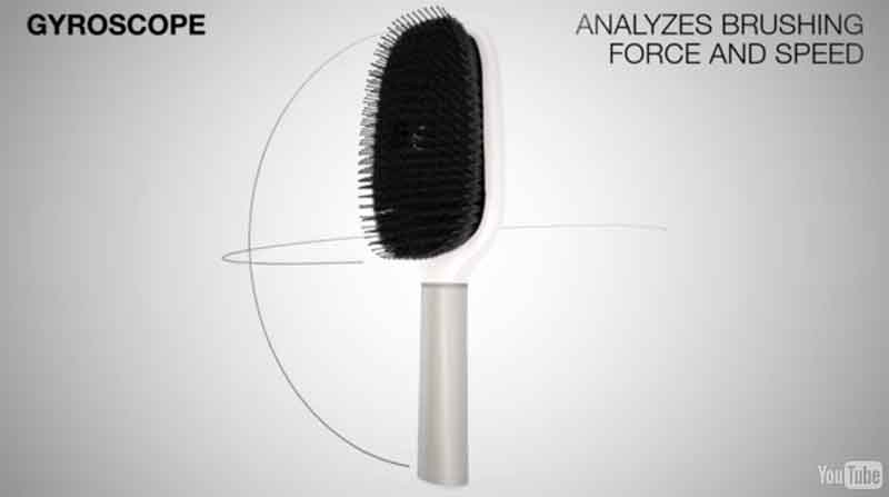 Kerastase Hair Coach Gyroscope analyzes brushing force and speed