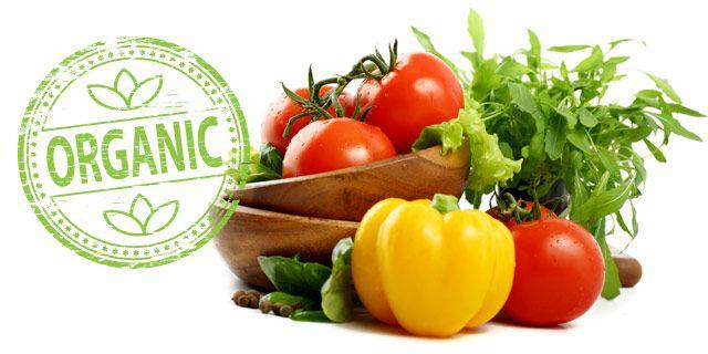 organic food with natural B vitamin